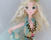 NISHA, beautiful forest fairy puppet doll, handmade in the USA
