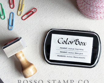 Frost White Pigment Ink Pad - ColorBox Pigment Ink Pad - Red Ink Pad