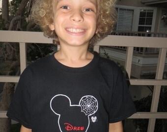 Disney Halloween NSSHP Mickey Minnie Youth T-Shirt