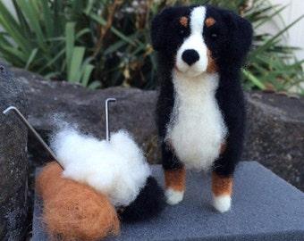 Dog Needle Felting Kit - Bernese Mountain Dog