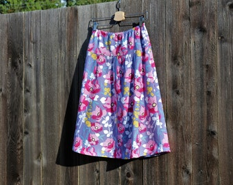 Southwestern A-Line Skirt, Semi Gathered Skirt, Skirt, Arizona, Custom Made to Order, All lengths, and Sizes XS to Plus