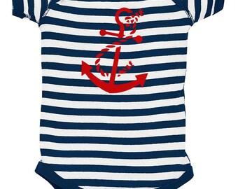 Nautical Anchor Silhouette Baby Bodysuit