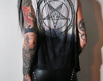 Hell Couture Among The Shadows Pentagram Drape Vest