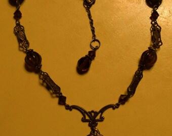 Edgar Allan Poe Victorian Goth Portrait Necklace