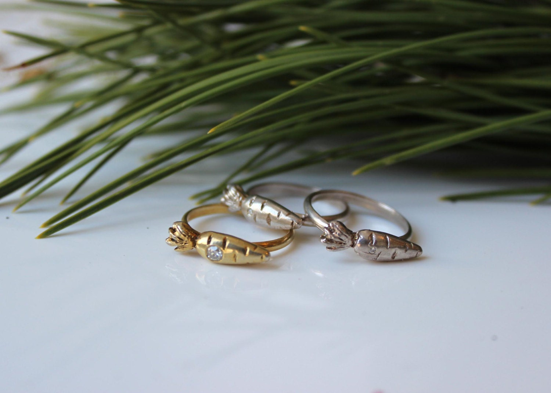 Genuine 1 Ct Carrot Diamond Ring by SlashpileDesigns on Etsy