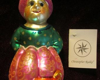 Aladdin Glass Christmas Ornament Vintage Christopher Radko Hand Blown Glass Genie Ornament Christmas Tree Ornament Vintage Christmas