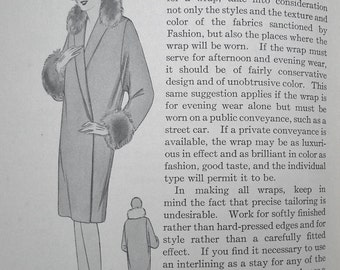 Tailored Garments Vintage Antique 1920s Dressmaking Book Mary Brooks Picken Woman's Institute of Domestic Arts & Sciences - men's tailoring