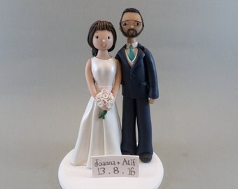 Cake Toppers - Bride & Groom Customized Wedding Cake Topper