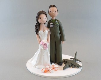 Cake Toppers - Pharmacist & Pilot Customized Wedding Cake Topper