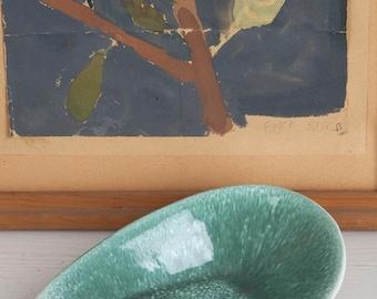 Lovely Green Ceramic 60's Dish