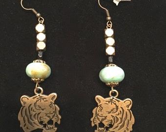 Tiger Charm Earrings