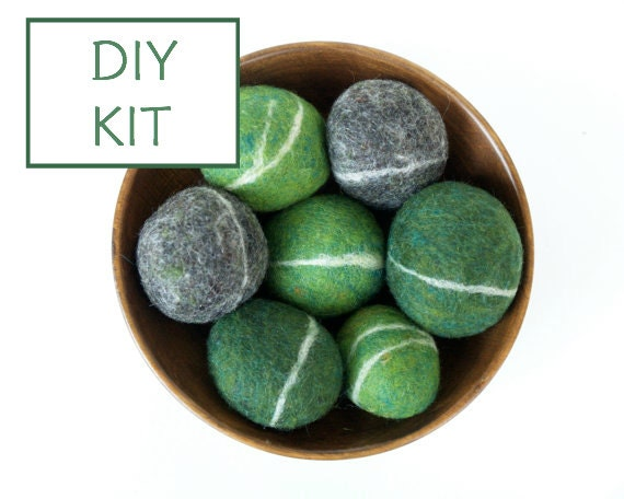 Needle Felting Kit Beginner - Felted Pebble Kit - Wool Stone Rock Kit - DIY Craft Kit - Children - Kids - Blue