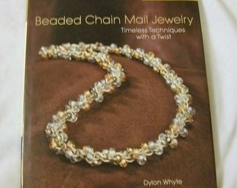 Jewelry Making Book, DIY Chain Mail Jewelry, Beaded Chain Mail Jewelry, A Lark Jewelry Book, Chain Mail Jewelry Book,