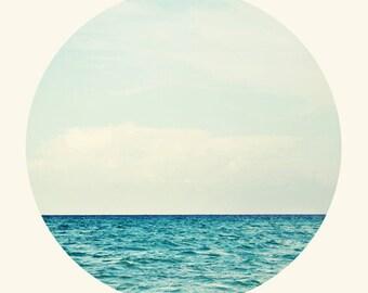 Salt Water Cure - Original Photograph by Tina Crespo - water, sea, type, isak dinesen, survival, beach decor, quote, waves, blue, teal