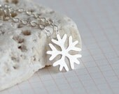 Snowflake Necklace In Sterling Silver, Handmade In Beautiful Cornwall, UK