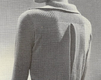 Riding and Golf Shirt Vintage Knitting Pattern 032