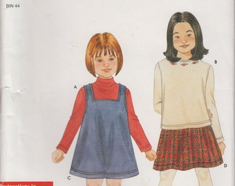 Simplicity Sewing Pattern 9909 Child's Jumper and Knit Size A