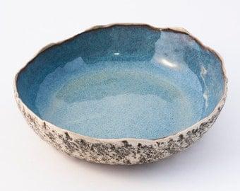 Blue pasta bowl, Handmade ceramic pasta bowl, handmade bowl Blue, large salad bowl, Soup bowl, Large serving bowl, Christmas Wedding gifts