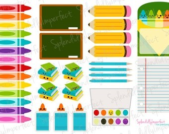 School Supply Planner Stickers