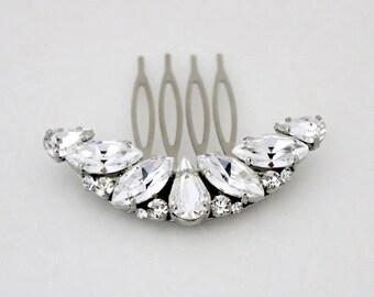 Crystal Bridal hair comb, Rhinestone Wedding headpiece, Swarovski crystal hair piece, Bridal hair pin, Hair clip, Wedding hair accessory