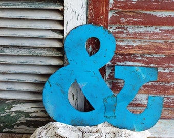 Vintage Metal Ampersand Sign or the And Sign Vintage Metal by avintageobsession on etsy