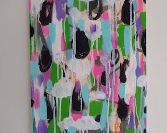Abstract Mixed Media Painting Original