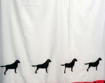 Labrador Retriever Dog Shower Curtain in Your Choice of Colors