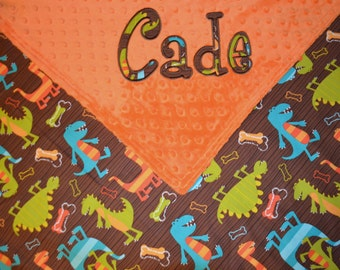 Personalized Minky Blanket - You choose the fabrics