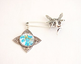 fairy brooch, shawl pin brooch, rhombus star jewelry, fairy kilt pin brooch