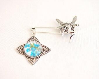 fairy brooch, shawl pin brooch, rhombus star jewelry, fairy kilt pin brooch