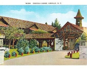 Vintage North Carolina Postcard - The Eseeola Lodge, Linville (Unused)