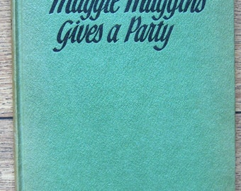 vintage 60s children book MAGGIE MUGGINS Gives a Party