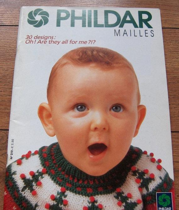 Phildar Baby Knitting Pattern Books : vintage phildar no. 212 Baby infants knitting patterns 30