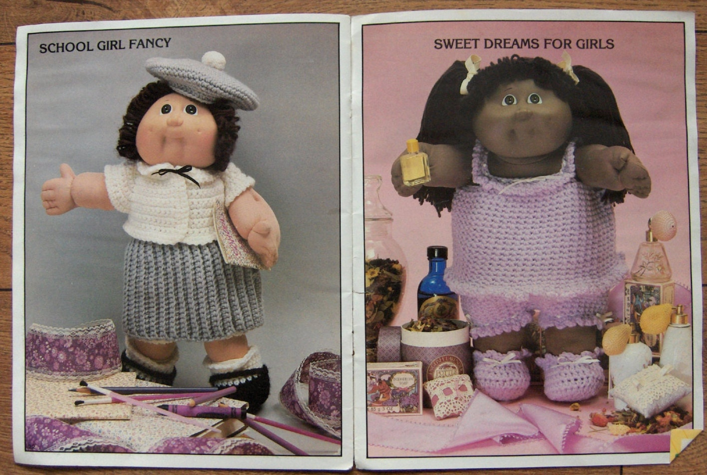 Vintage 80s Crochet patterns CABBAGE PATCH KIDS Crocheted Outfits ...