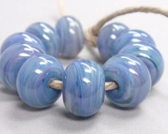 Bigger Groovy Swirl Swirls  - 10 Handmade Lampwork Beads SW 168