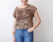 80s Cotton Cropped Sweater - M/L