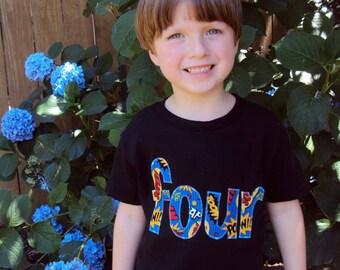 Superhero Birthday Shirt- Super Hero Birthday Shirt -Four Year Old Birthday Shirt, Two Year Old shirt- Comic Birthday Shirt