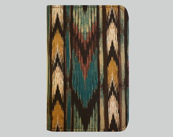 Kobo Aura One Cover, Kindle Case, eReader, Kobo, Kindle Voyage, Kindle Fire HD 6 7, Kindle Paperwhite, Nook GlowLight Ikat Brown