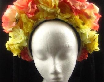 OOAK Full Bloom Headdress for Day of the Dead/Wedding/Cospay