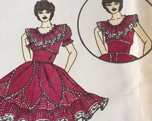 Vintage 1970s Womens Square Dancing Dress Pattern 111 By C And C Originals - Multi Size 6 - 8 - 10