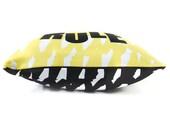 Pillow, Children Pillows, Accessories, Room Decor, Boys, Bedroom, Black, Lemon, 18x18 Pillow, Modern, Scandinavian. Boys Rule Pillow