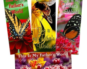 This Is My Father's World- Print It Yourself-Set of 4 Hymn Bookmarks- Lyrics on Reverse- DIY Instant Art Digital Download Womens Ministry