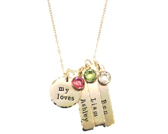 14k Gold-filled My Little Loves Personalized Necklace