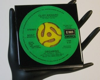 Cliff Richard - Very Cool Drink Coaster Made with The Original 45 rpm Record
