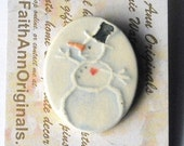 SNOWMAN with HEART pin