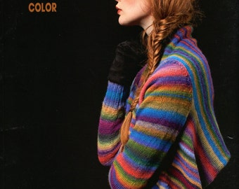 FAM Color Fatto a Mano #201 Lang Yarns Knitting Pattern Book 20 Designs for Women 1 for Men Instructions in English, German, French & Dutch