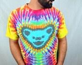 Vintage 90s Grateful Dead Tie Dye Lot Tee Shirt - Dancing Bears