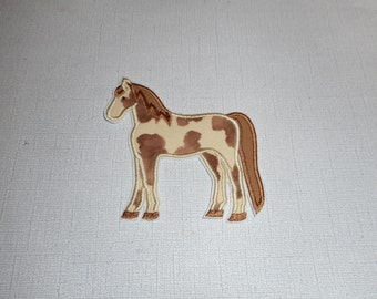 Free Shipping Ready to Ship  Horse fabric iron on applique