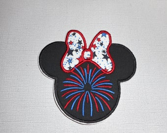 Ready to Ship Fourth of July Princess    Machine Embroidery  Iron On  Applique     Free Shipping .