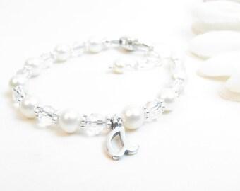 Baby Girl Bracelet // Baby Bracelet // Baptism Bracelet // Flower Girl Bracelet //Christening Bracelet //First Communion Gift //Confirmation